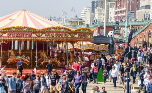 Busy Bank Holiday in Brighton