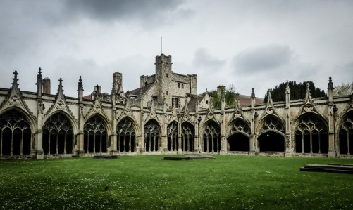 The lovely Cloisters at Canterbury Cathedral