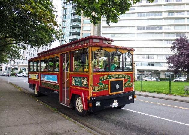 Cute little HoHo trolley in Vancouver