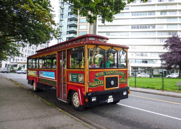 Cute little HoHo trolley in Vancouver