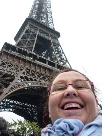 I usually hate my photo being taken but I love this selfie on the HoHo bus with the Eiffel Tower