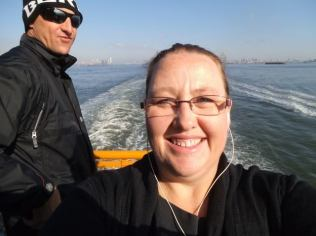 Selfie bomb on the Staten Island Ferry