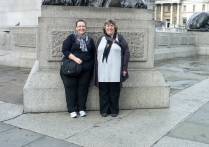 The day we had a German tourist take out photo in Trafalgar Sq - not that you could really tell where we were!!